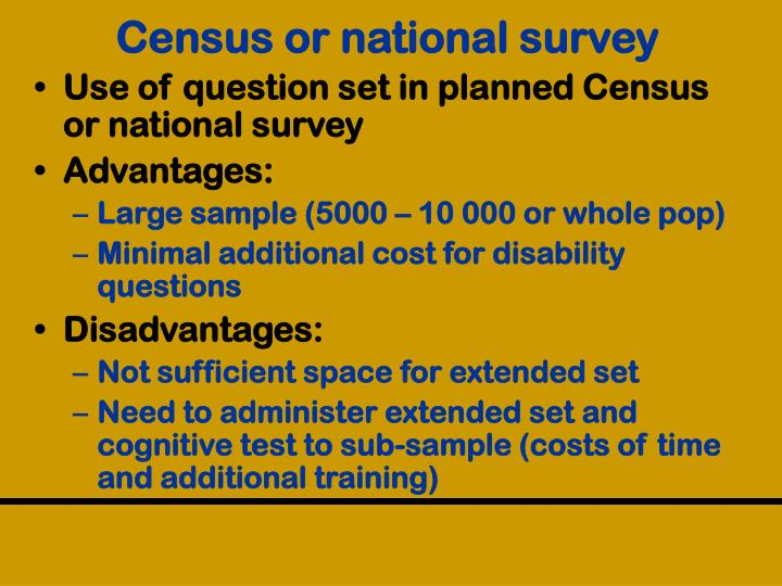Census or national survey