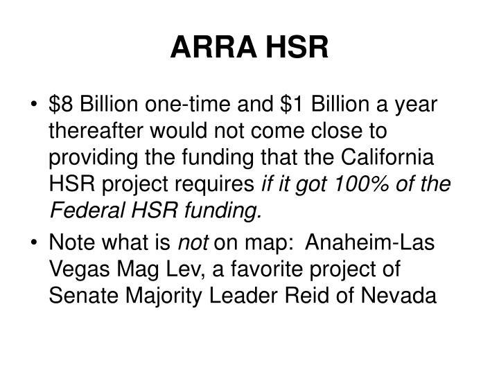 ARRA HSR