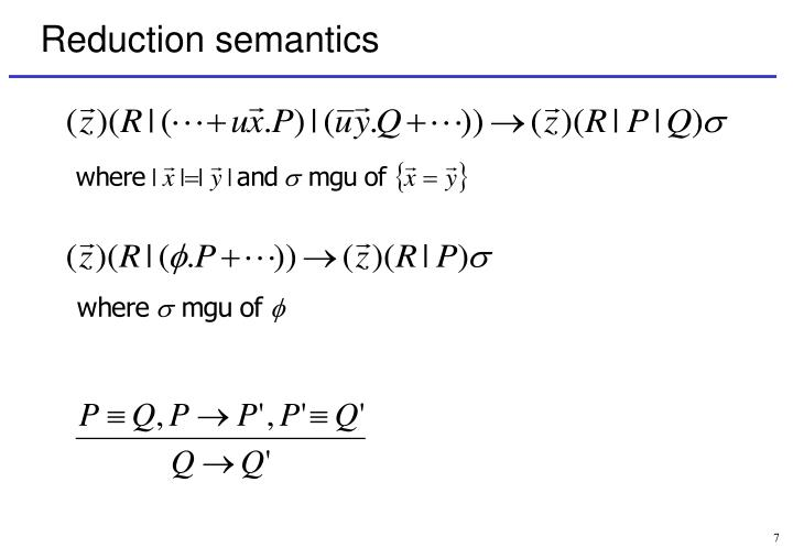 Reduction semantics