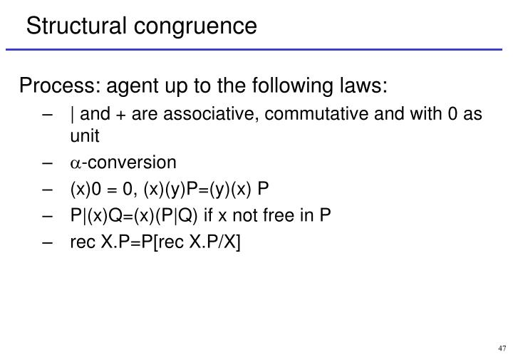 Structural congruence