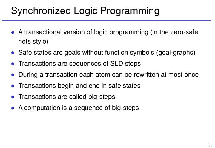 Synchronized Logic Programming