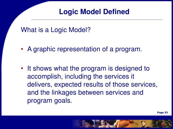 Logic Model Defined