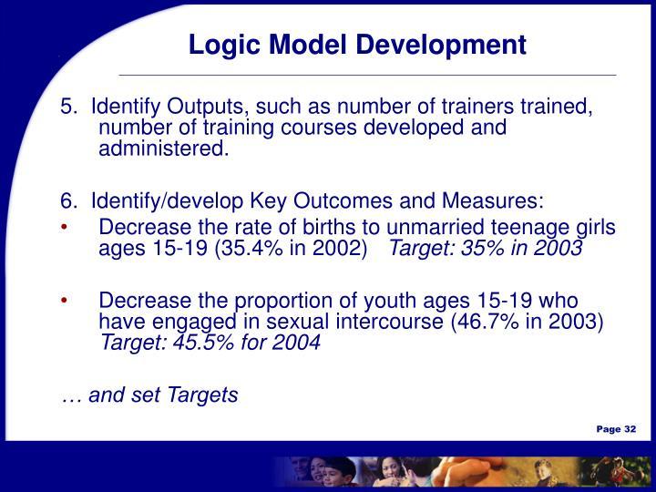 Logic Model Development