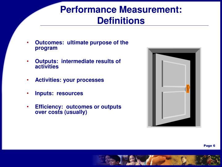 Performance Measurement: Definitions
