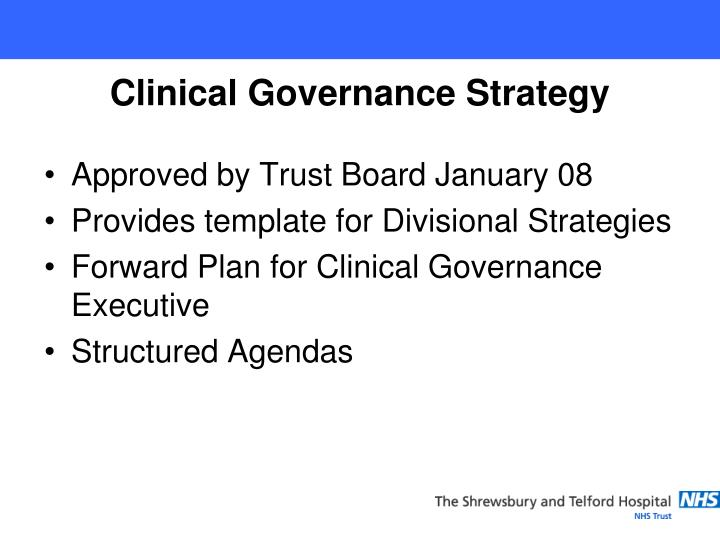Approved by Trust Board January 08