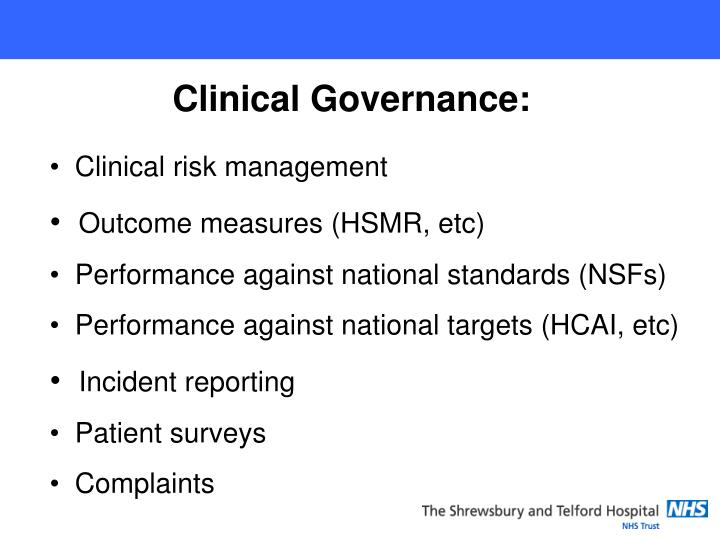 Clinical Governance: