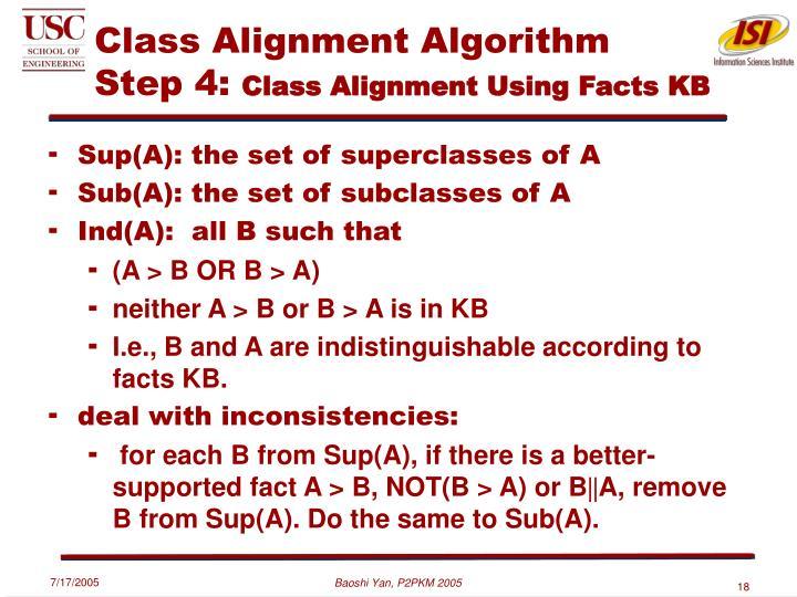 Class Alignment Algorithm