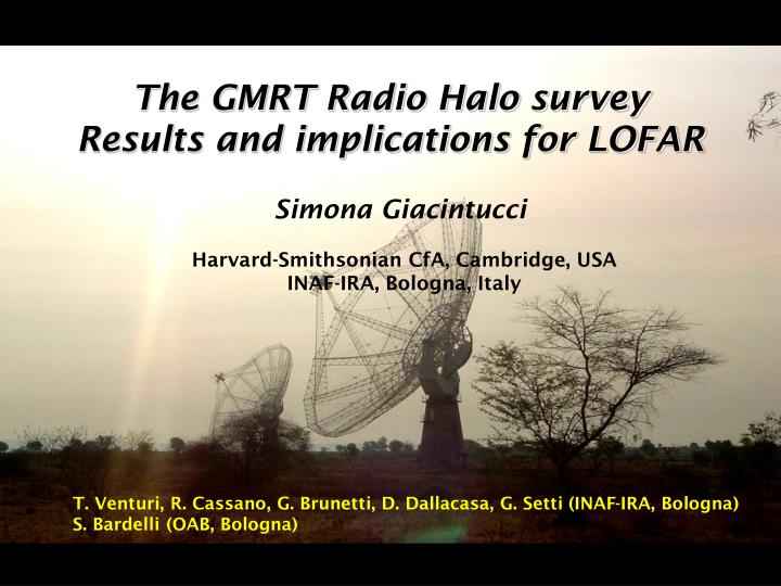 The GMRT Radio Halo survey