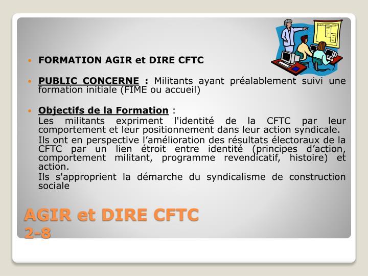 FORMATION AGIR et DIRE CFTC