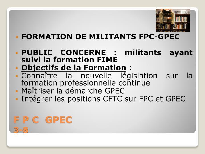 FORMATION DE MILITANTS