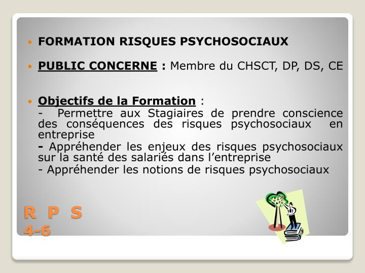 FORMATION RISQUES