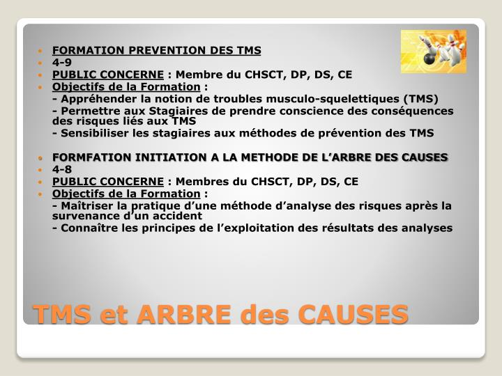 FORMATION PREVENTION DES TMS