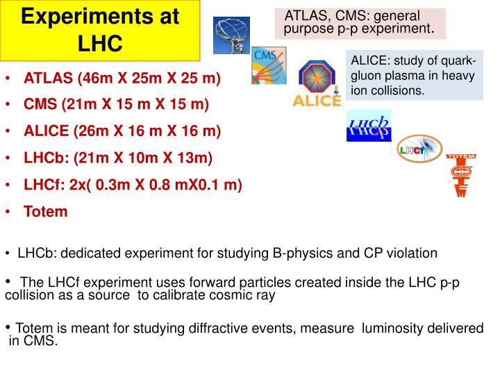 Experiments at LHC