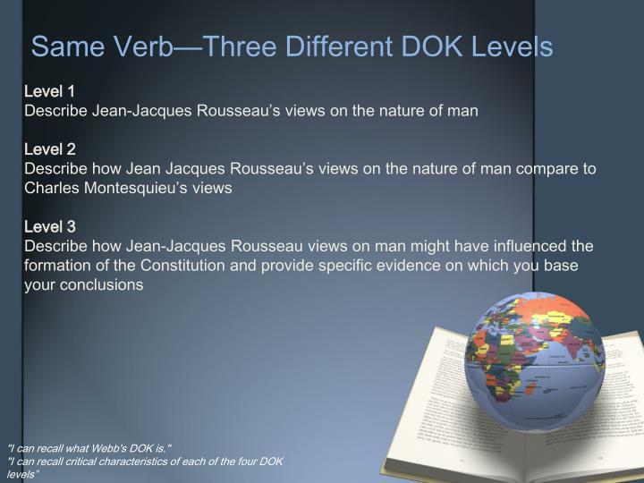 Same Verb—Three Different DOK Levels