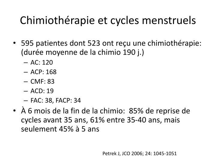 Chimiothérapie et cycles menstruels