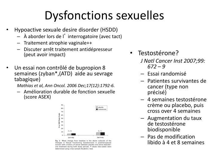 Dysfonctions sexuelles
