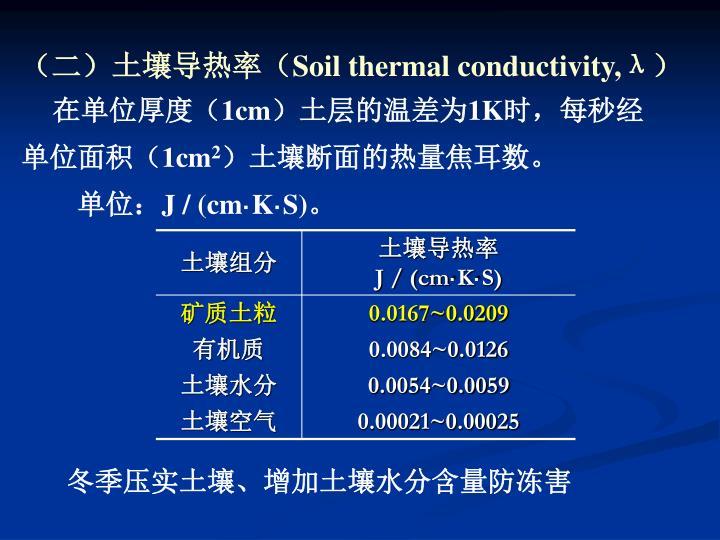 (二)土壤导热率(
