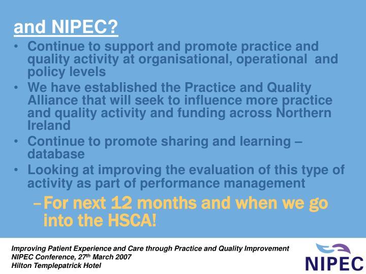 and NIPEC?