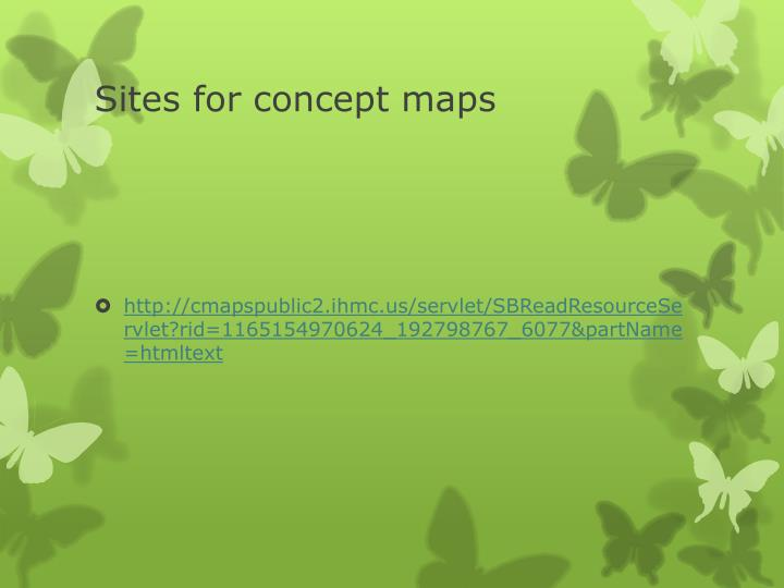 Sites for concept maps