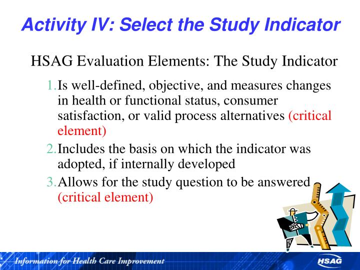 Activity IV: Select the Study Indicator