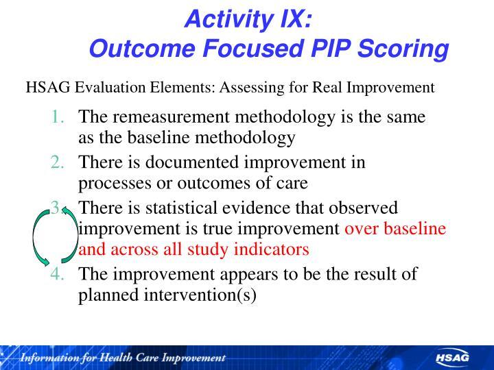 Activity IX: