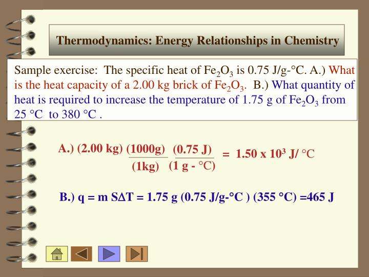 Thermodynamics: Energy Relationships in Chemistry
