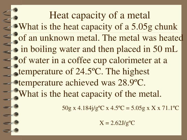 Heat capacity of a metal