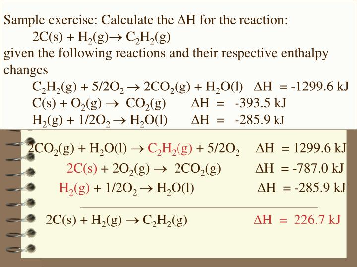 Sample exercise: Calculate the