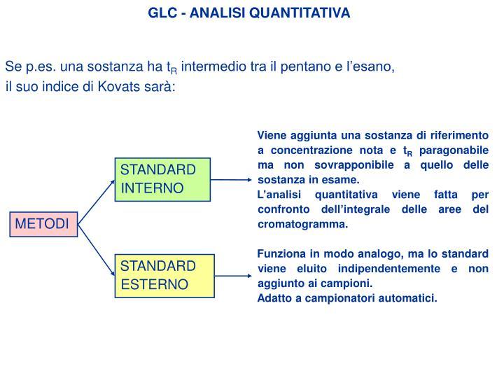 GLC - ANALISI QUANTITATIVA