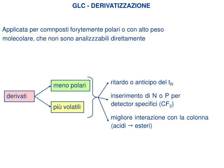 GLC - DERIVATIZZAZIONE