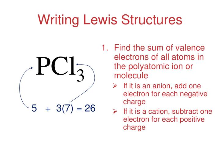 Find the sum of valence electrons of all atoms in the polyatomic ion or molecule