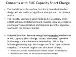 concerns with ruc capacity short charge3