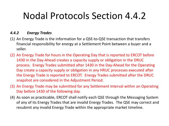 Nodal Protocols Section 4.4.2