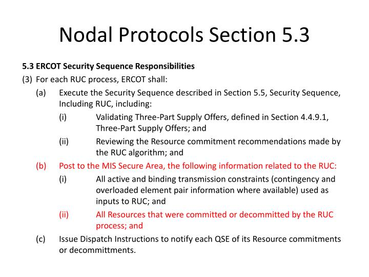 Nodal Protocols Section 5.3
