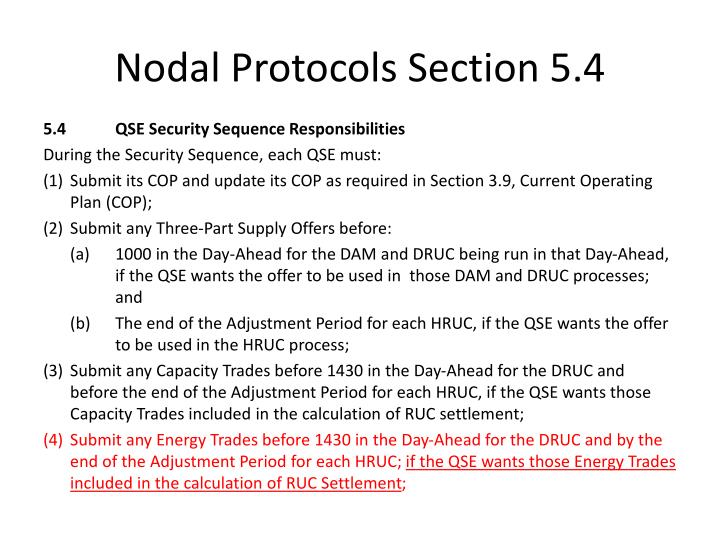 Nodal Protocols Section 5.4