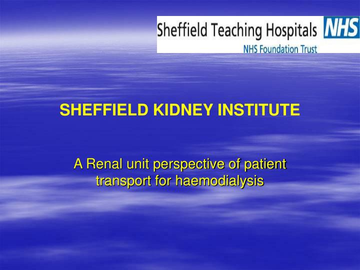 Sheffield kidney institute
