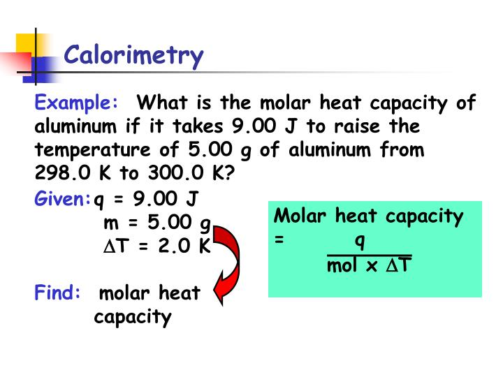 Molar heat capacity = q
