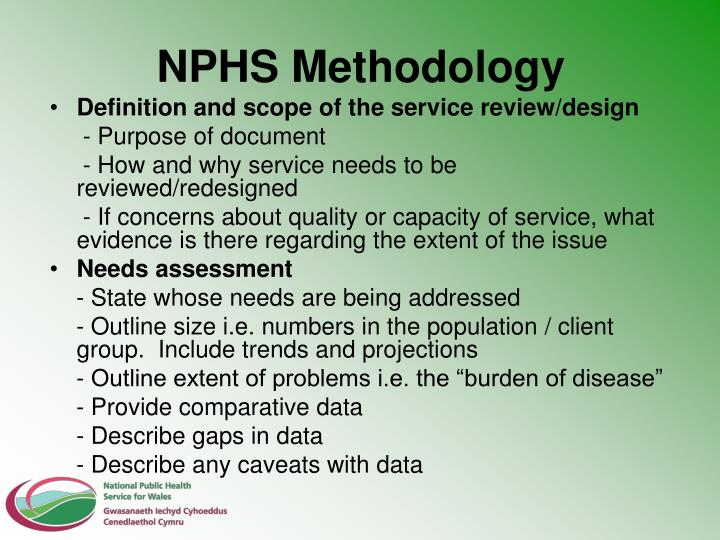 NPHS Methodology