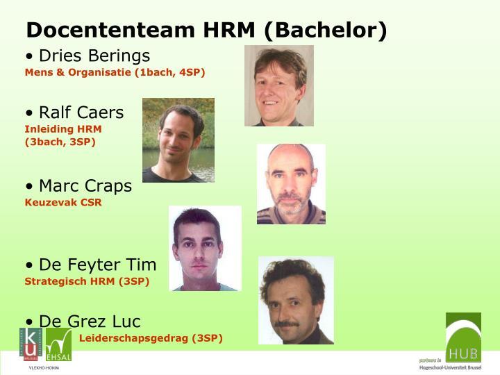 Docententeam HRM (Bachelor)