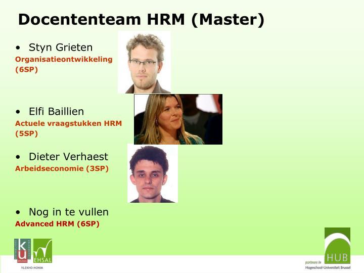 Docententeam HRM (Master)