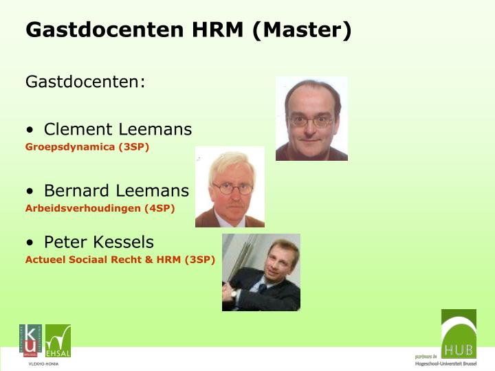 Gastdocenten HRM (Master)