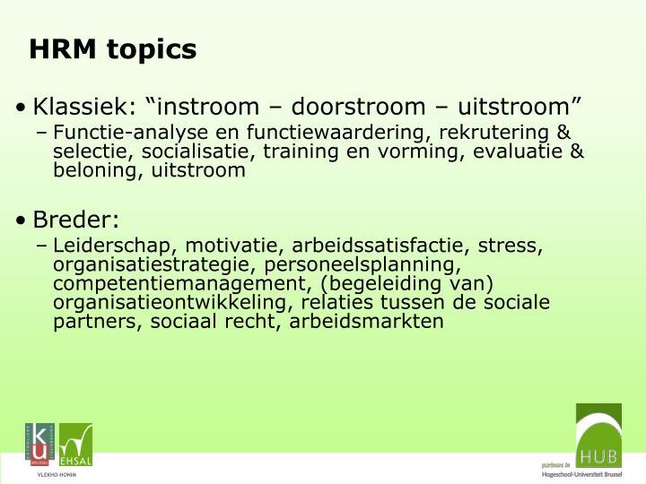 HRM topics