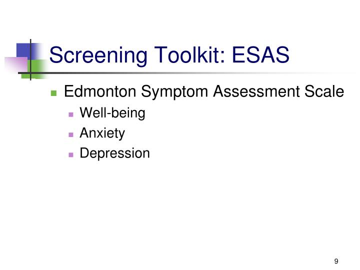 Screening Toolkit: ESAS