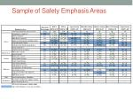 sample of safety emphasis areas