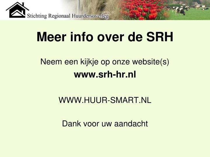 Meer info over de SRH
