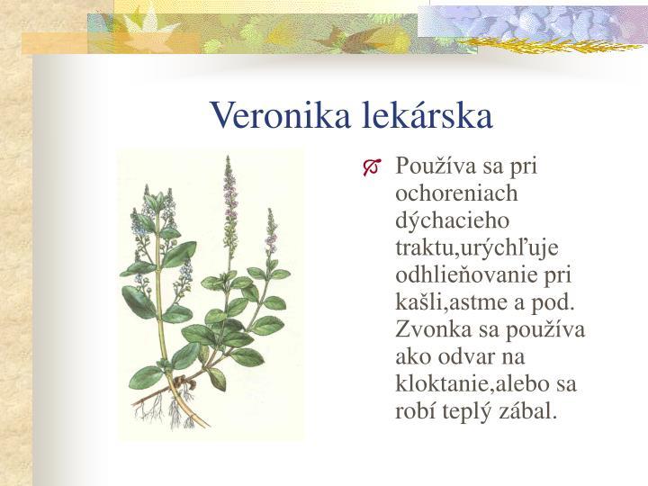 Veronika lekárska