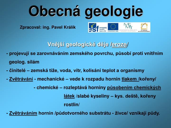 Obecná geologie