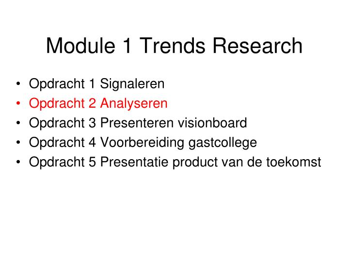 Module 1 Trends Research