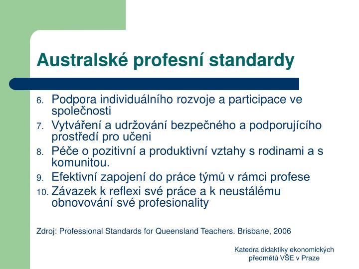 Australské profesní standardy