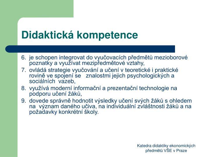 Didaktická kompetence